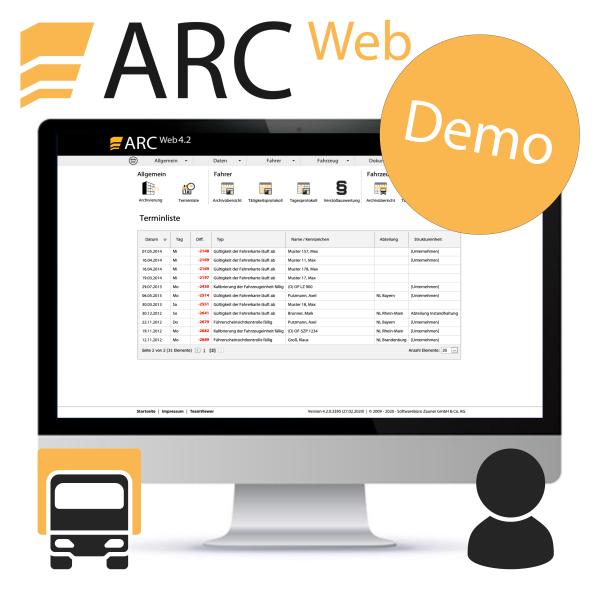 ARC Web - Demozugang