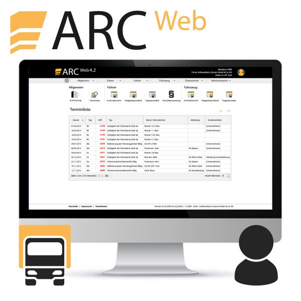 ARC WEB KOMpakt - bis 3 Fahrzeuge & 5 Fahrer (Jahresgebühr)