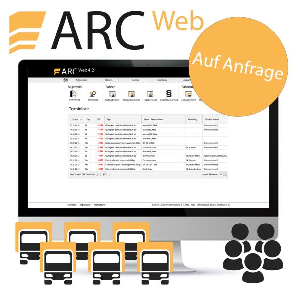 ARC WEB Professional 3 - ab 500 Fahrzeugen, inkl. 7 User